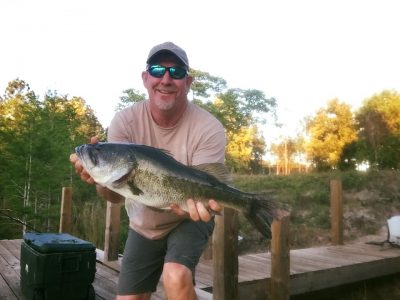 Kevin Faver with a bass